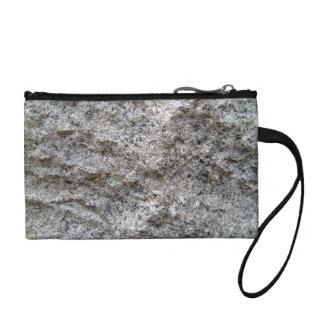 Rough Cut Granite Stone Texture Change Purse