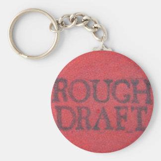Rough Draft Basic Round Button Key Ring
