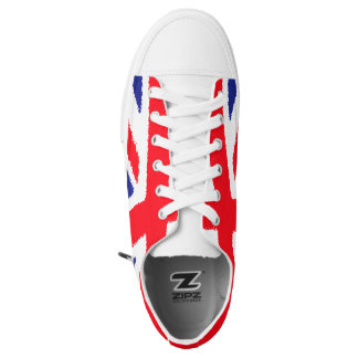 Rough edge Union Jack, white tongue Low Tops