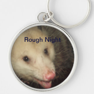 Rough Night Silver-Colored Round Key Ring