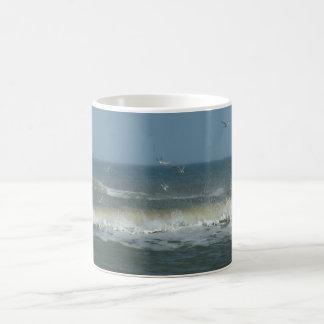 rough ocean sea basic white mug