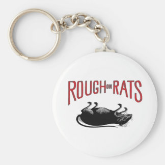 rough on rats basic round button key ring