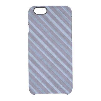 Rough Purple Blue Stripe Deflector Clear iPhone 6/6S Case