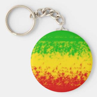 Rough Rasta Design Key Ring