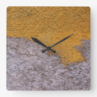 Rough Raw Beton Construction Wall No Digits Square Wall Clock