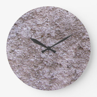 Rough Raw Beton Grey Construction Wall No Digits Clock