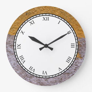 Rough Raw Beton Grey Yellow Construction Wall Wallclock
