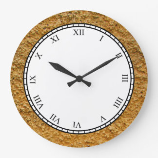 Rough Raw Beton Yellow Construction Wall Clock