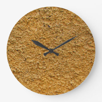 Rough Raw Beton Yellow Construction Wall No Digits Wall Clocks