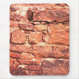 Rough Red Brick Mouse Pad