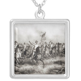 Rough Riders: Colonel Theodore Roosevelt Square Pendant Necklace