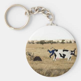 Rough Riding Basic Round Button Key Ring