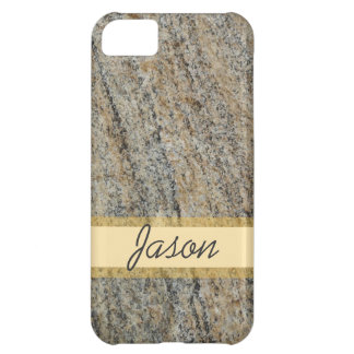 rough rock surface with name For men male boy iPhone 5C Cases