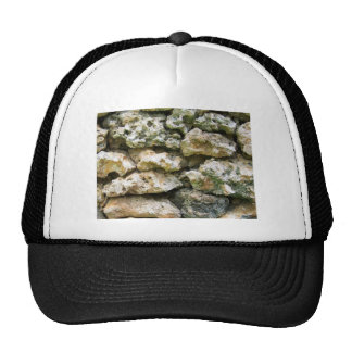 Rough rock wall with moss custom background trucker hats