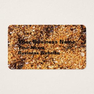Rough sand texture business card