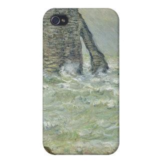 Rough Sea Etretat - Claude Monet Cover For iPhone 4