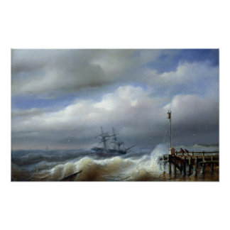 Rough Sea in Stormy Weather, 1846 Poster