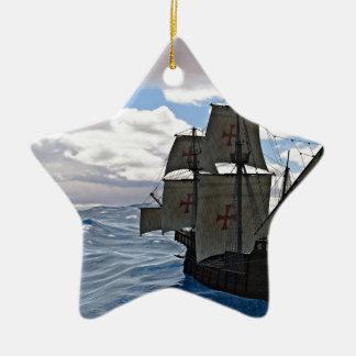 Rough Seas Ahead Ceramic Ornament