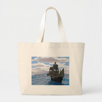 Rough Seas Ahead Large Tote Bag