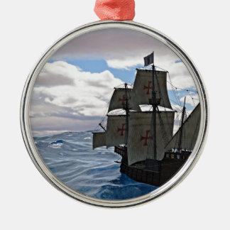 Rough Seas Ahead Metal Ornament