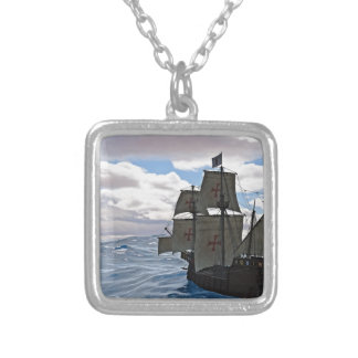 Rough Seas Ahead Silver Plated Necklace