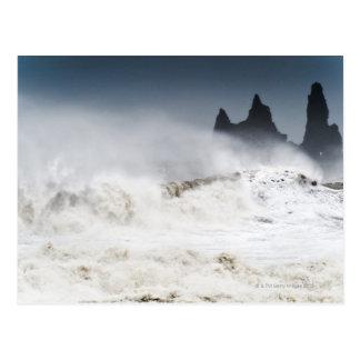 Rough Seas, Vik i Myrdal, Iceland Postcard