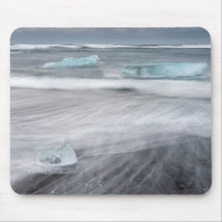 Rough Seascape with ice, iceland Mouse Pad
