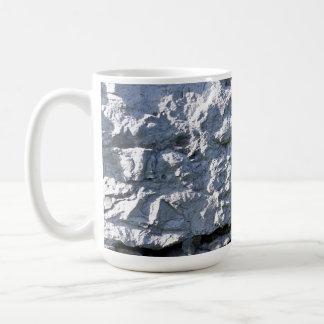 Rough Stone Texture, White Brick Coffee Mugs