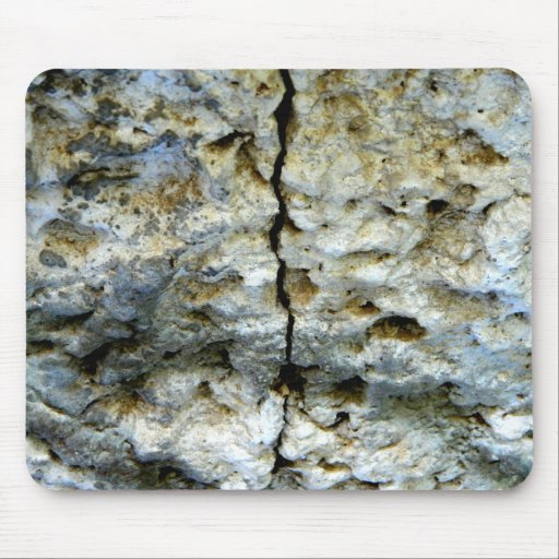 Rough stone with crack mouse pads