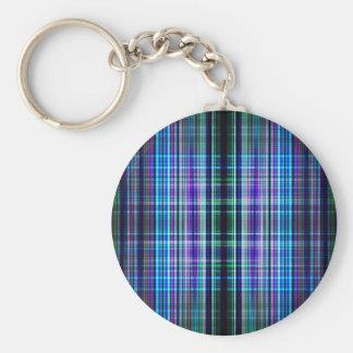 Rough stripes pattern basic round button key ring