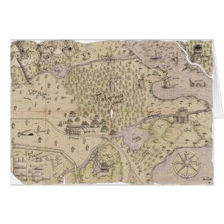 Rough Terrain Map Greeting Card