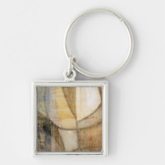 Rough Textured Earth Tone Painting Key Chain