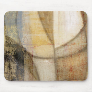 Rough Textured Earth Tone Painting Mouse Pad
