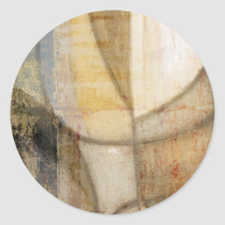 Rough Textured Earth Tone Painting Round Sticker