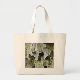 rough white rock ceiling large tote bag