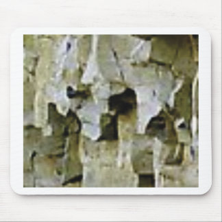 rough white rock ceiling mouse pad