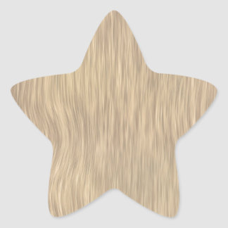 Rough Wood Grain Background in Faded Color Star Sticker