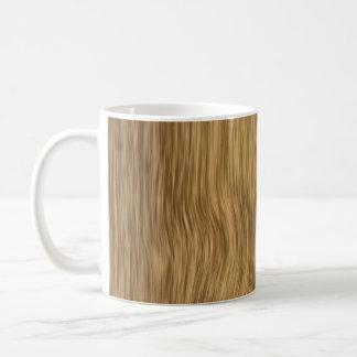 Rough Wood Grain Background in Natural Color Basic White Mug