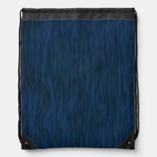 Rough Wood Grain Look Background Deep Blue Drawstring Backpacks