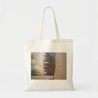 Rough Wooden Surface Budget Tote Bag