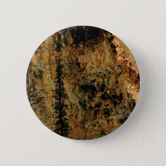 rough yellow surface 6 cm round badge
