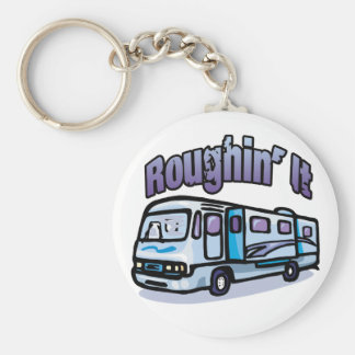 Roughin' It Basic Round Button Key Ring