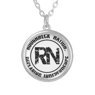 ROUGHNECK NATION LOGO SILVER PLATED NECKLACE