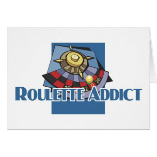 Roulette addict's greetings greeting cards