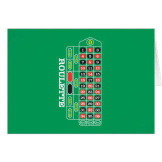 Roulette Greeting Cards