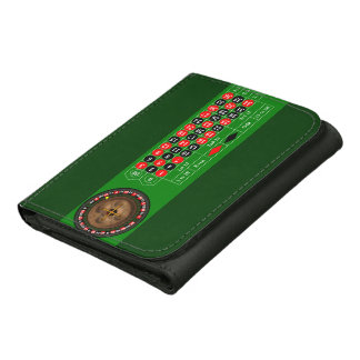 Roulette Leather Tri-fold Wallet