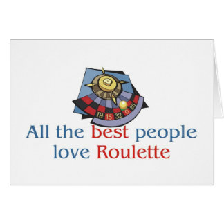 Roulette Lover's greetings Greeting Card