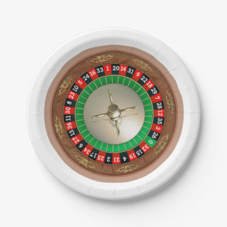 Roulette Paper Plates 7 Inch Paper Plate