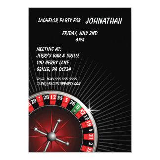 """Roulette Party Invitation 5"""" X 7"""" Invitation Card"""