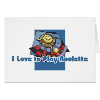 Roulette player's greetings greeting card